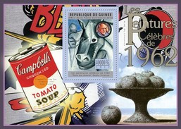 GUINEA 2012 SHEET FAMOUS PAINTINGS ART WARHOL POP ART PICASSO PEINTURES CELEBRES 1962 Gu12522b - Guinea (1958-...)
