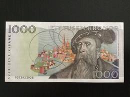SWEDEN 1000 KRONOR BANKNOTE 1989 P-60 - Sweden