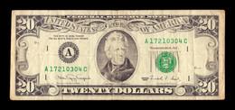 United States Of America 20 Dollars 1990 Pick 487 A - Boston MA - Biljetten Van De  Federal Reserve (1928-...)