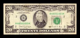United States Of America 20 Dollars 1990 Pick 487 B - New York NY - Biljetten Van De  Federal Reserve (1928-...)