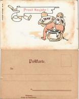 Ansichtskarte  Neujahr/Sylvester - Scherz-Litho AK 1898 - Anno Nuovo