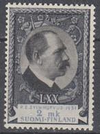 +M737. Finland 1931. President Svinhufvud. Michel 172. MNH(**). - Neufs