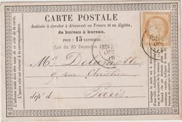Seine Et Marne N°55 Cad T17 Meaux 1876 / CP Précurseur Caron Notaire - 1849-1876: Période Classique