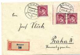 TSC281 / CSSR - Bousov 1937 Mit 3 X Staatspräsident Masaryk - Covers & Documents