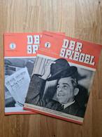 DER SPIEGEL 1. Jahrgang Nr. 1  4. Januar 1947 Original /  DER SPIEGEL 1. Jahrgang Nr. 26 – 26. Juni 1948 Nachdruck - Oude Documenten