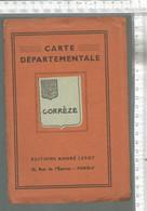 PG / SUPERBE  CARTE ANCIENNE CORREZE @@ CARTE DEPARTEMENTALE @0  EDITIONS ANDRE LESOT - Unclassified