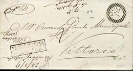 59754 Italia,busta Viagg.da 1867 Da Sacile A Vittorio Veneto  Da Fabricera Di Sacile - Non Classés