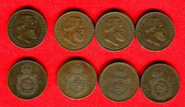 BRESI - BRAZIL - PEDRO II EMPEREUR - LOT 3 X 20 REIS 1868 + 1 X 1869 - Brasile