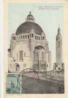 Carte Maximum -  Liège - Basilique De Cointe Et Monument Interallié - 1 Jour Emission - 1934-1951