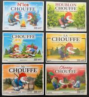 Etiketten X6 & X6' Chouffe Brewery Brasserie D'Achouffe - Beer