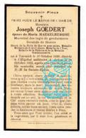 DP Maréchal D Logis Gendarme Rijkswacht Joseph Goedert ° Toernich 1890 † Hôp. Militaire Arlon 1925 X M. Maekelberghe - Andachtsbilder