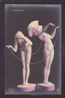CPA Kirchner Raphaël Circulé Art Nouveau Femme Women Voir Scan Du Dos Farfadets - Kirchner, Raphael