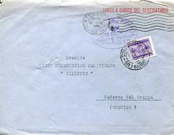 59770 Italia,busta Viagg. 1941 Liceo Scientifico Guglielmo Oberdan Trieste A Paderno Del Grappa, Con 50c.segnatasse - Storia Postale
