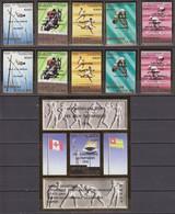 Togo 1976 PERF & IMPERF Mi # 1186-90 АВ Bl 107 Montreal Summer Olympics Champions MNH OG - Estate 1976: Montreal