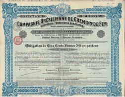 Titre Ancien - États-Unis Du Brésil - Compagnie Brésilienne De Chemins De Fer-  S.A. Brésilienne - Obl. De 1912 - - Railway & Tramway