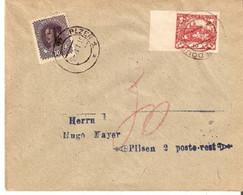 "Tchecoslowakia/Austria Doudovice 31/I/1919 ""T"" Pilsen  D1224 - Covers & Documents"