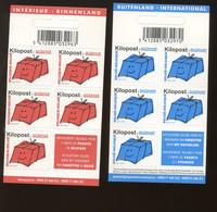 2005. Ki20  KILOPOST.  2Kg   Binnenland & Buitenenland International  Paire Des Carnets Permanents 10 Et 11 - Railway