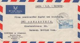 INDIA - AIRMAIL 1953 BOMBAY > OSNABRÜCK/GERMANY /AA176 - Airmail