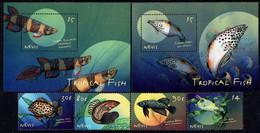 Nevis - 2000 - Tropical Fish - Mint Stamp Set + 2 Souvenir Sheets - St.Kitts Und Nevis ( 1983-...)