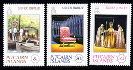 PITCAIRN ISANDS - 1977 SILVER JUBILEE SET (3V) FINE MNH ** SG 171-173 - Pitcairn Islands