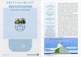 BRD - 2019 ETB 39/2019 - Mi 3492 - 80C      Alexander Von Humboldt - FDC: Panes