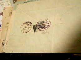 VIA DI MARE REGIA NAVE VOLTURNO CANNONIERA  5. 9 1913 X LA SPEZIA  15 CENT MICHETTI BORDO FOGLIO HS261 - Storia Postale