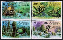 Grenadines Of St. Vincent - 1976 - Corals Of The Caribbean - Mint Stamp Set - St.Vincent & Grenadines