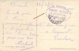 ITALIE ITALIA 1918 Franchigia R.POSTE Comando Militare Di Stazione Sampierdarena Su Cartolina Genova - Zonder Classificatie