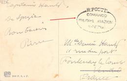 ITALIE ITALIA 1918 Franchigia R.POSTE Comando Militare Stazione SPEZIA Su Cartolina Panorama La Spezia - Zonder Classificatie