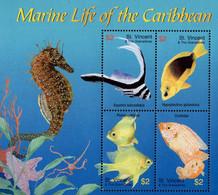 St. Vincent & The Grenadines - 2003 - Marine Life Of The Caribbean - Mint Stamp Sheetlet - St.Vincent & Grenadines