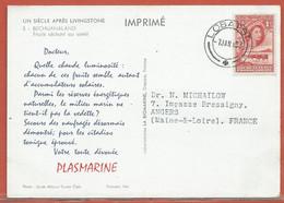 BECHUANALAND CARTE PHARMACEUTIQUE DE 1957 DE LOBATSI - 1885-1964 Protectorado De Bechuanaland