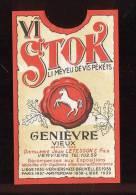 Etiquette De Genièvre  Vieux  -  Jean Letesson Et Fils  Verviers - Labels
