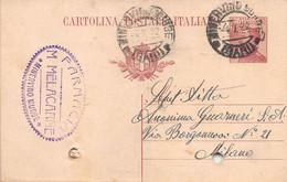 """011364 """"(BARLETTA-ADRIA-TRANI) MINERVINO MURGE - FARMACIA M. MELACARNE""""  CART COMM.LE SPED 1922 - Commercio"""