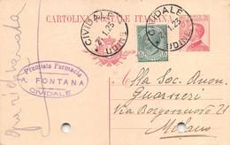 """011365 """"(UDINE) CIVIDALE - FARMACIA A. FONTANA""""  CART COMM.LE SPED 1923 - Commercio"""