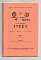 FRANCE & COLONIES PHILATELIST INDEX, Volumes 1-36 1941-1980, Robert G Stone - Inglés (desde 1941)