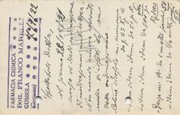 """011366 """"(CREMONA) GUSSOLA - FARMACIA CHIMICA DOTT FRANCO MARELLI""""  CART COMM.LE SPED 1922 - Commercio"""
