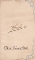 MENU DEJEUNER DE NOCE 1910 / TERMINUS HOTEL MR ET MME CARRE - Menu