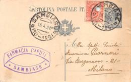"011367 ""(CATANZARO-LAMEZIA TERME) SAMBIASE - FARMACIA CAPUTI""  CART COMM.LE SPED 1921 - Commercio"