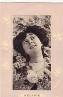 """Carte Fantaisie """"Mélanie"""", Cpa En Relief, Envoyée De FRANCE Vers GESPUNSART En 1908 - Prénoms"""