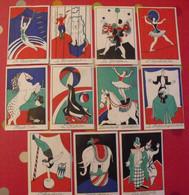 11 Images Chromo Tisanes  Cisbey. Cirque Otarie Clown Trapeze Prestidigitateur Dompteur Jongleur. Vers 1910 - Sonstige