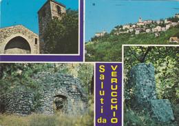 Saluti Da Verucchio ( Rimini ) - Vedutine - Viaggiata - Rimini