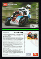 ISLE OF MAN 2014 TT Zero Lap Record/John McGuiness: Postcard MINT/UNUSED - Moto