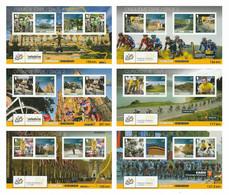 ISLE OF MAN 2014 101st Tour De France/Le Grand Départ: Set Of 6 Postcards MINT/UNUSED - Isla De Man