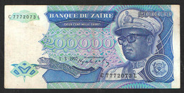 ZAIRE  200000 1992 - Zaire