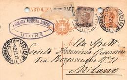 """011375 """"UDINE - FARMACIA AUGUSTO BOSERO""""  CART COMM.LE SPED 1925 - BOLLO RACCOMANDATA - Commercio"""