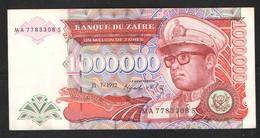 ZAIRE  1000000 1992 AUNC - Zaire