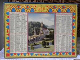 Almanach Calendrier Des Postes Et Des P.T.T. 1948 - Formato Grande : 1941-60