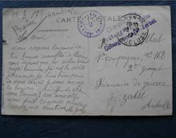 """2 Cachets """"Gepruft Lager Zerbst"""" 1915 Sur Cp Orange Theatre 2 Scans - Guerra De 1914-18"""