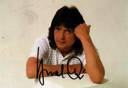 Photo Dédicacée De Bernd Clüver, Schlager Sänger (chanteur) Carte Polydor Avec Discographie - Signed Photographs
