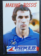MAXIME BOSSIS CPSM Carte Postale Dédicacée FOOTBALL Joueur - Fútbol